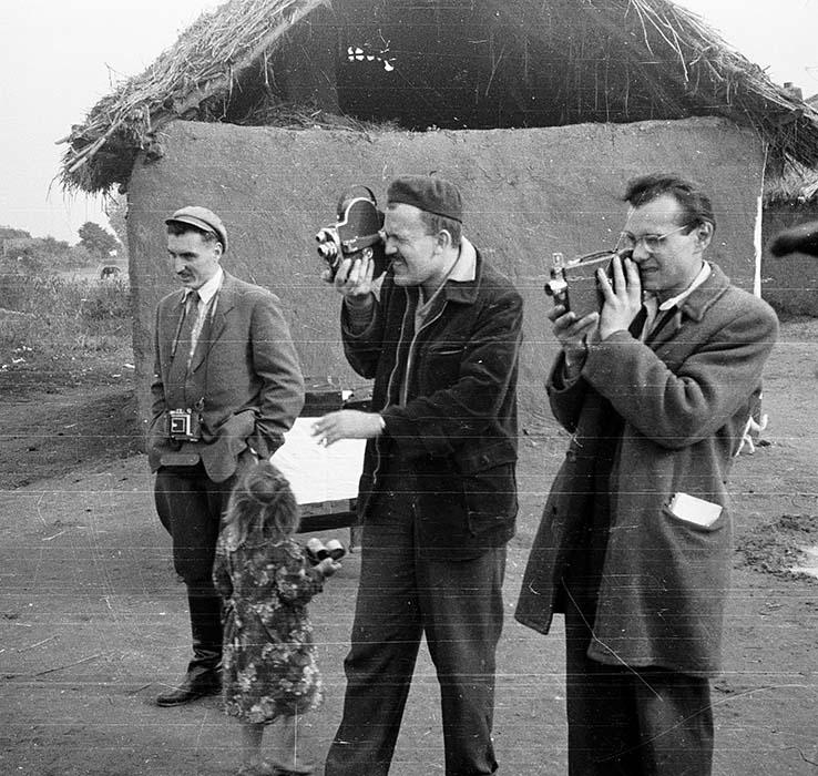 Csaba Pálfi, László Mácz, György Martin. Encsencs, 1958