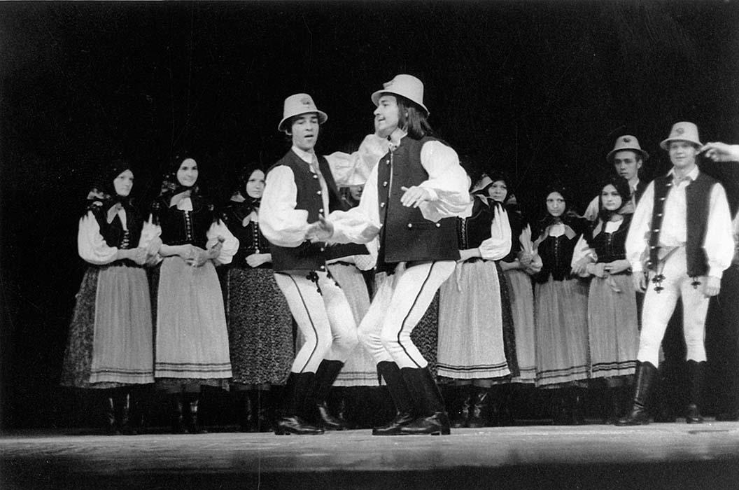 """Sebő-Tímár:  """"Szék Dances,"""" slow tempo, with  Zoltán Varga, Domokos Szakács (front); Szolnok, 1973"""