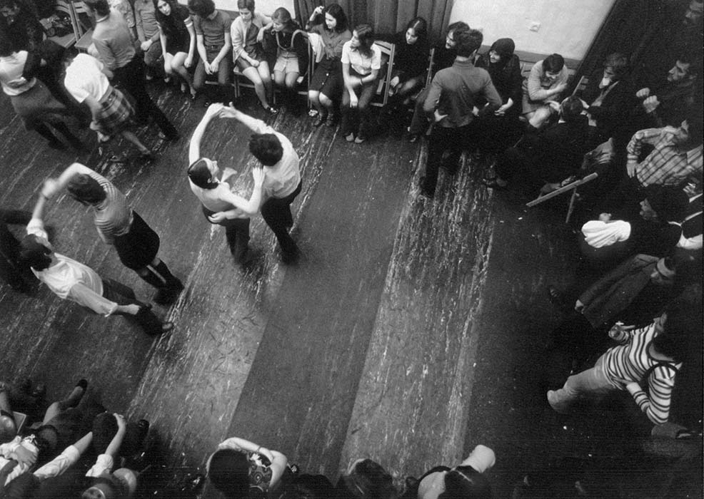 """Táncház"" (""Dance Hall"") dance event; birdseye view"