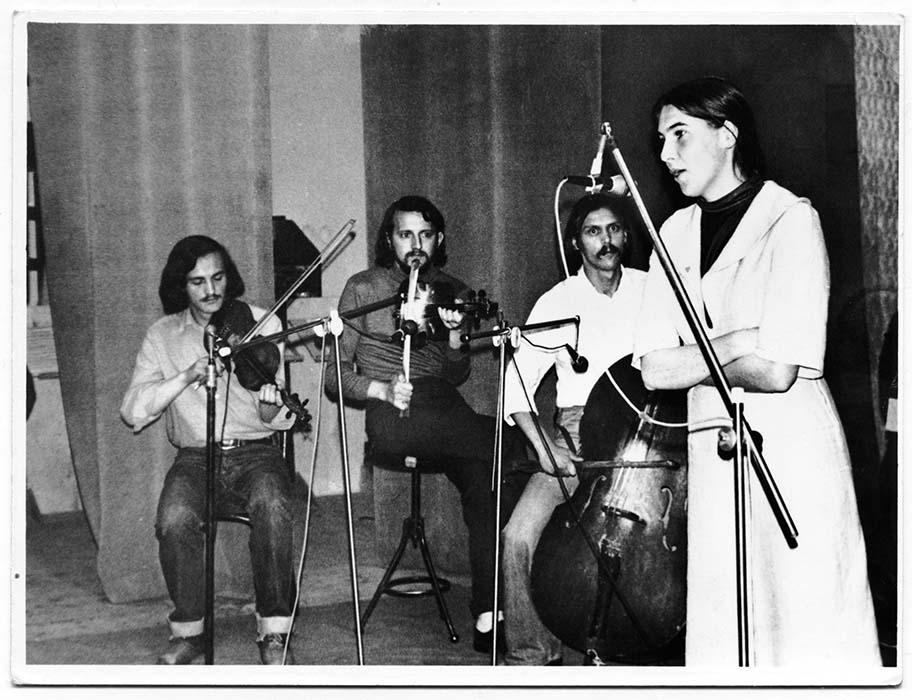 Barozda Ensemble:  Imre Bokor, István Pávai, József Simó, and Erzsébet Györfi; Csíkszereda, late 1970s