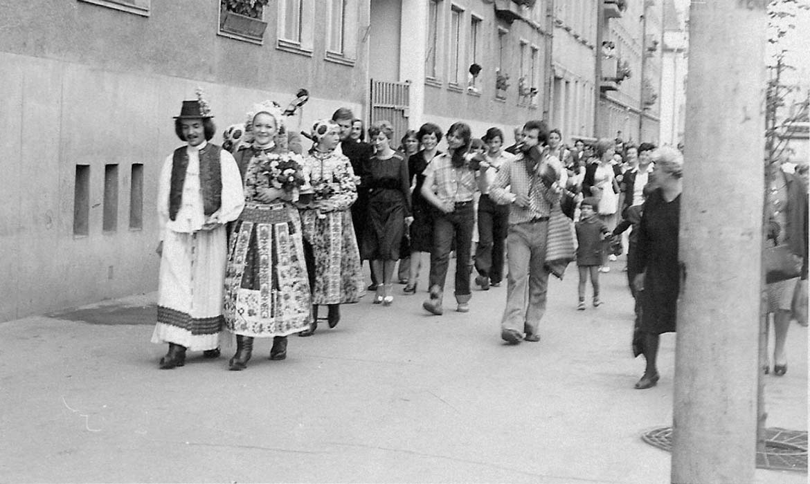 """Dance Hall Wedding"".  Wedding of Dezső Sepsi; Kolozsvár, late 1970s"